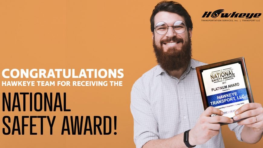 Hawkeye receives 6th consecutive National Safety Award!