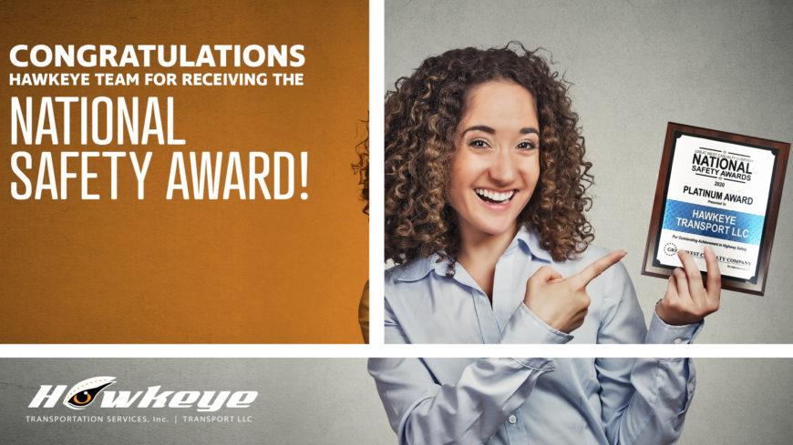 Hawkeye receives 8th consecutive National Safety Award!